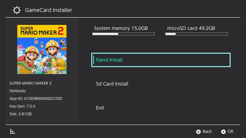 gamecard installer